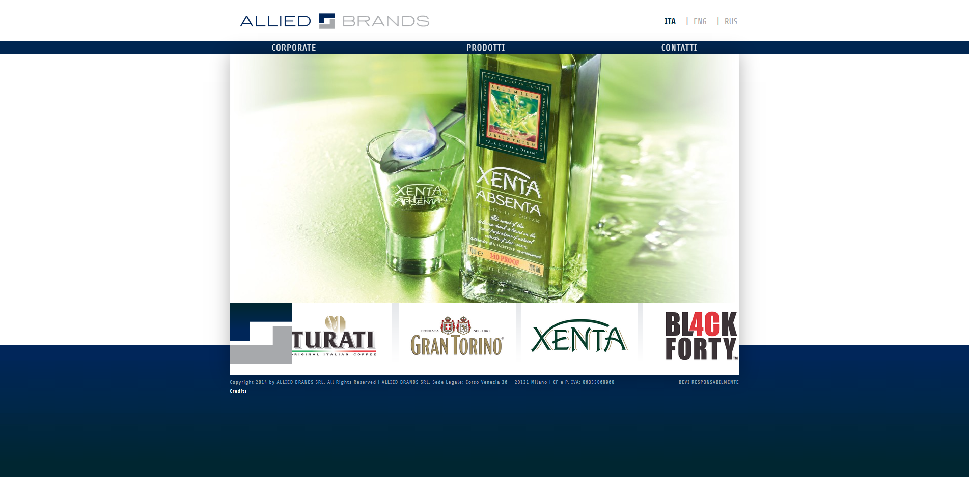 Allied brands Web site