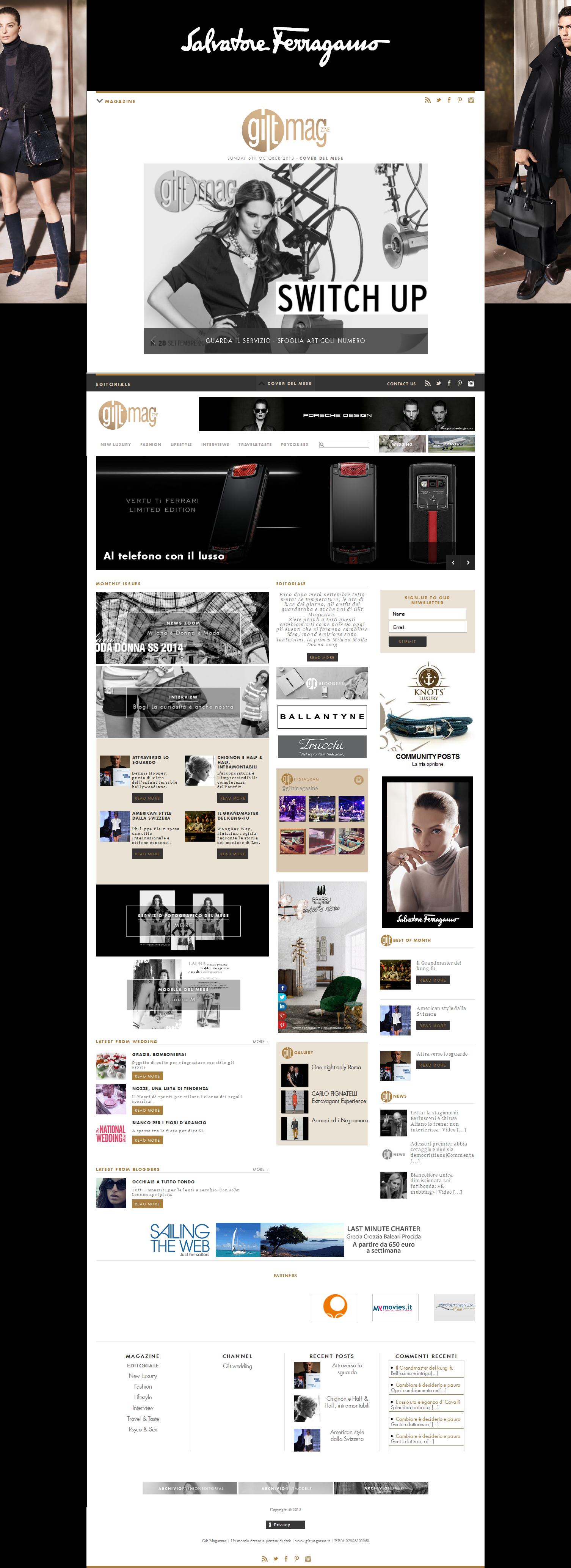 Gilt magazine Web site