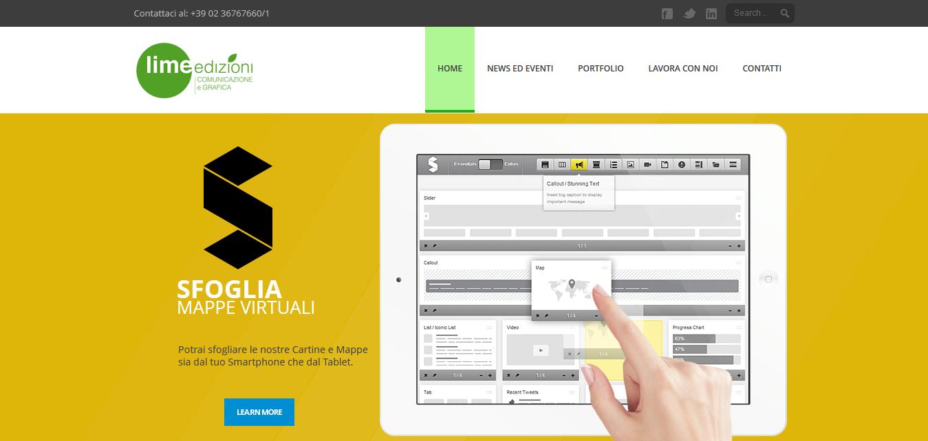 Lime edizioni Web site
