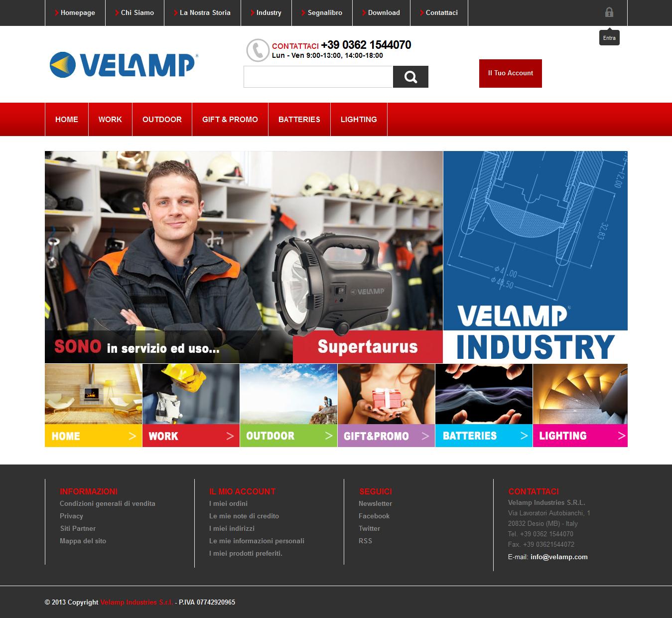 Velamp Ecommerce