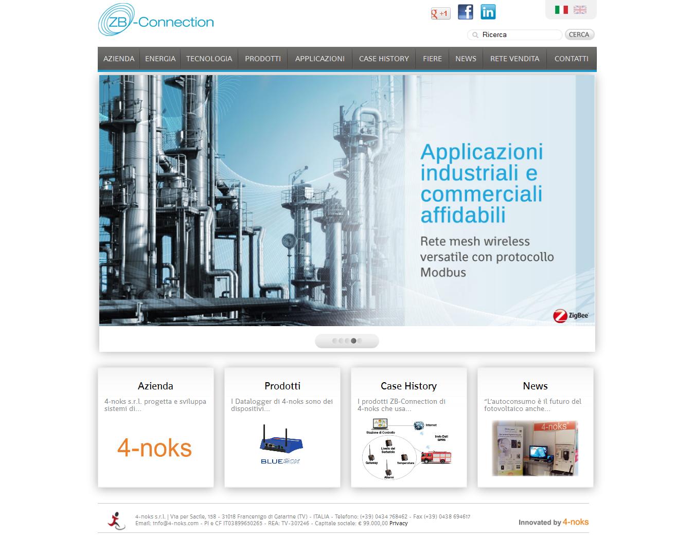 ZB connection Web site